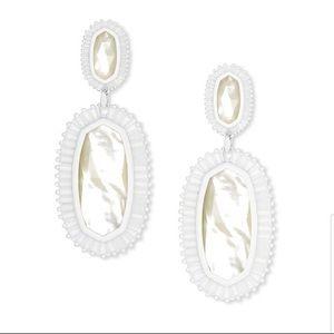 Kendra Scott   NWT Kaki Drop Earrings White
